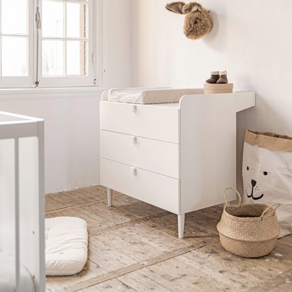 Baby commode Étoile wit inclusief bladvergroter