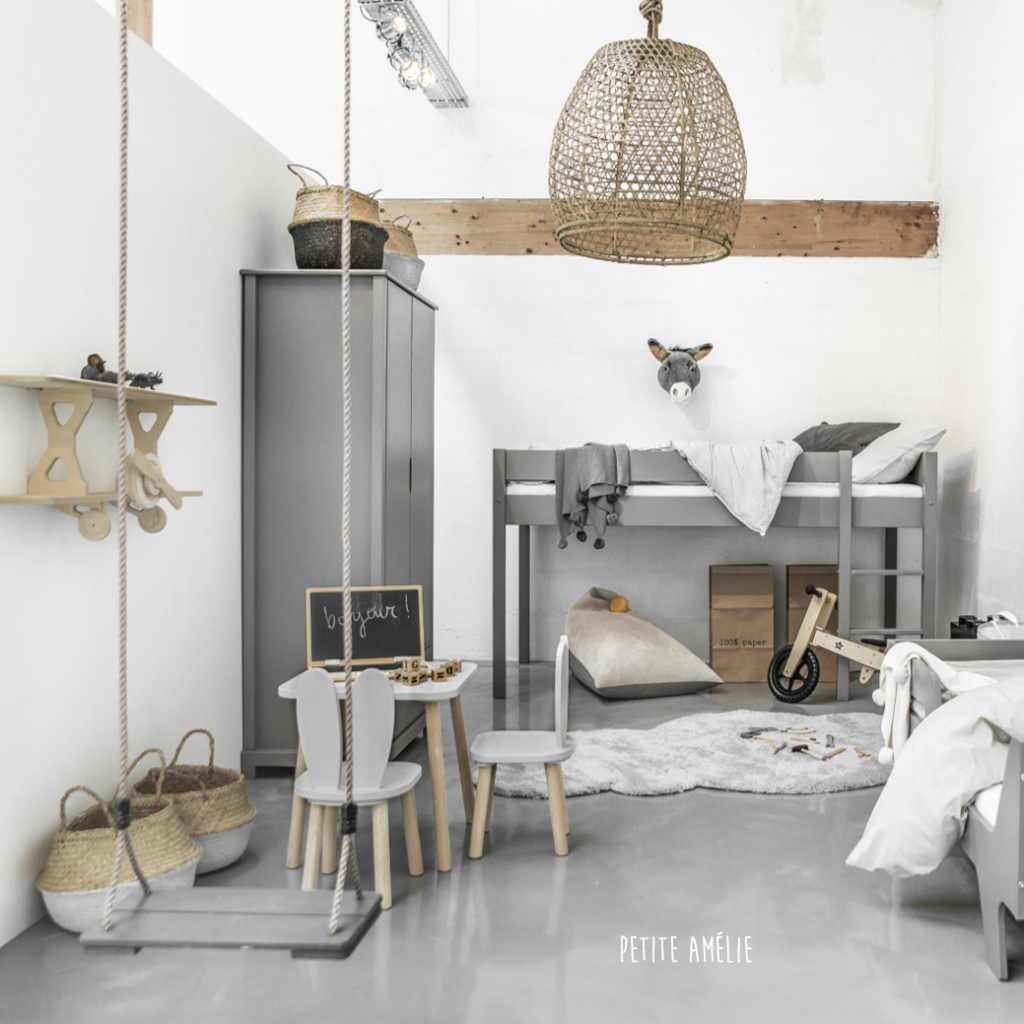 Grijs kinderkamer collection met kinderkast Nuit