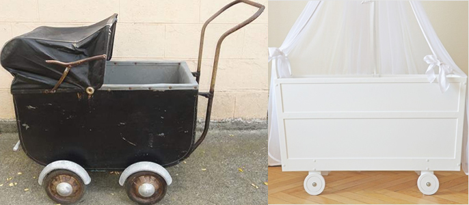 Vintage authentic pram