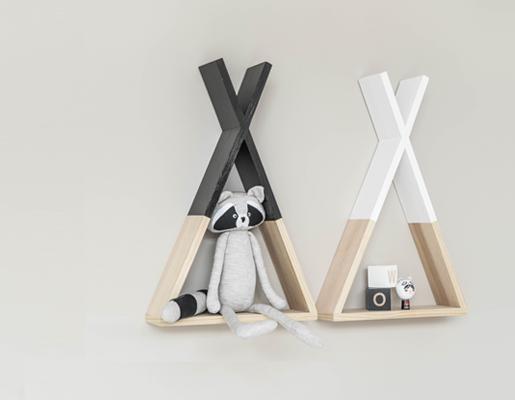 houten wandplank Tipi van Petite Amelie voor in de kinderkamer