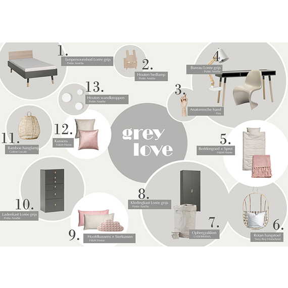 collage-tienerkamer-petite-amelie-grey-love