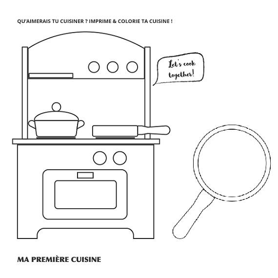 Kleurplaat mini keuken