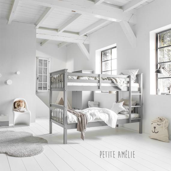 Stapelbed Jumeaux grijs - Petite Amelie