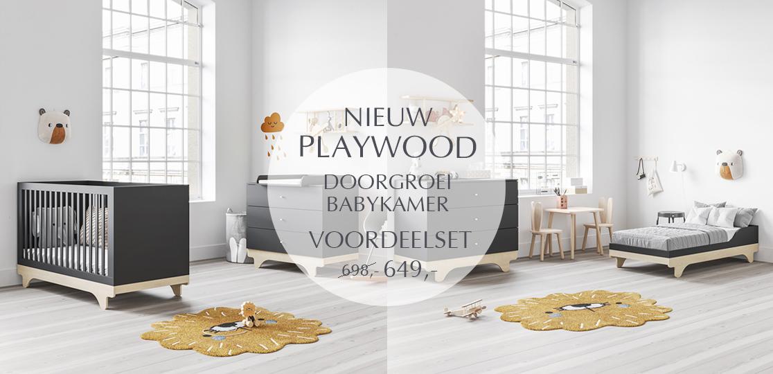 Ontdek onze nieuwe Playwood collectie voor de babykamer